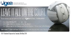 Netball 2014 invite