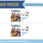 Top 10 games charts for the week ended 14 September 2014