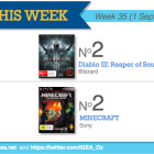 Top 10 games charts for the week ended 7 September 2014