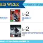 Top 10 games charts for the week ended 12 October 2014.