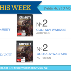 Top 10 games charts for the week ended 16 November 2014
