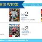 Top 10 games charts for the week ended 23 November 2014