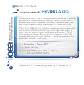 IGEA PWC Breifing E-mail 28_09