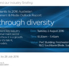IGEA Industry Briefing, Growth through diversity, Tuesday 2 August 2016 in Melbourne