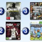 Top 10 games charts for the week ended 22 January 2017