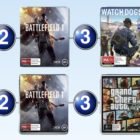 Top 10 games charts for the week ended 25 December 2016