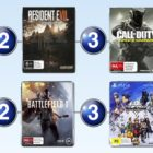 Top 10 games charts for the week ended 5 February 2017