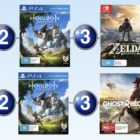 Top 10 games charts for the week ended 23 April 2017