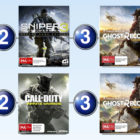 Top 10 games charts for the week ended 30 April 2017