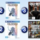 Top 10 game charts for the week ended 16 July 2017