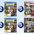 Top 10 games charts for the week ended 30 July 2017