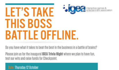 IGEA Trivia Night, raising funds for Checkpoint