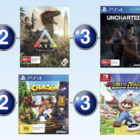 Top 10 games charts for the week ended 3 September 2017